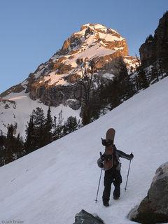 Middle Teton, sunrise, Tetons, Wyoming, hiking, may, spring