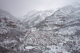 Ouray, snowstorm, winter, snow, Colorado