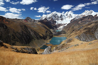 Cordillera Huayhuash, Peru, Laguna Jahuacocha, Jirishanca