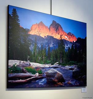 Tetons Alpenglow, print