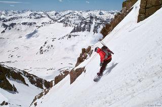 Mt. Sneffels, snowboarding, San Juan Mountains, Colorado