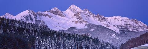 Wilson Peak Dawn Panorama