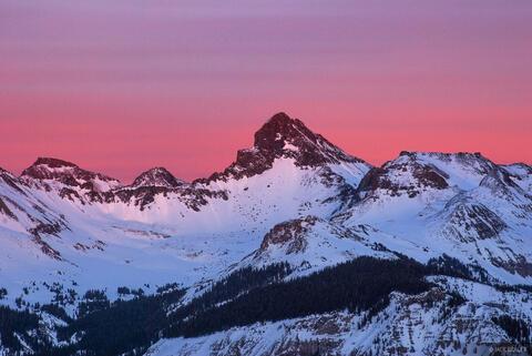 Wetterhorn Winter Sunset