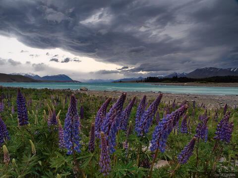 Stormy Lake Tekapo