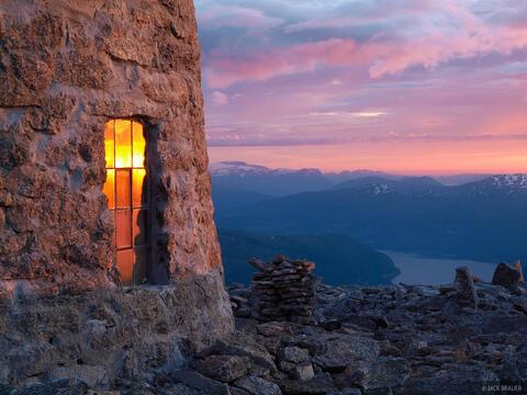 Skåla Hut Sunset