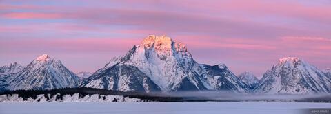 Mt. Moran Sunrise Panorama