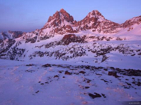 Tetons Winter Sunset