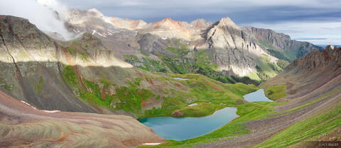 Blue Lakes Pass Panorama