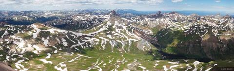 Uncompahgre Summit Panorama