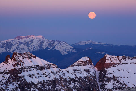 Supermoon on Sneffels