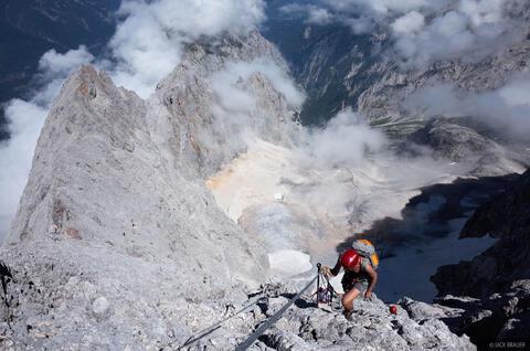 Climbing the Zugspitze