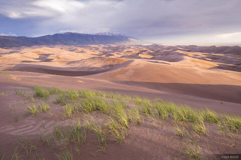 Stormy Dunes Sunset