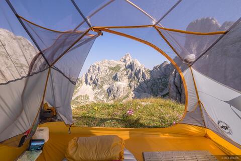 Tent View of Bobotov Kuk
