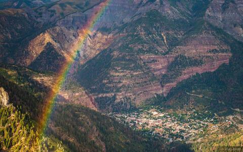 Rainbow Above Ouray