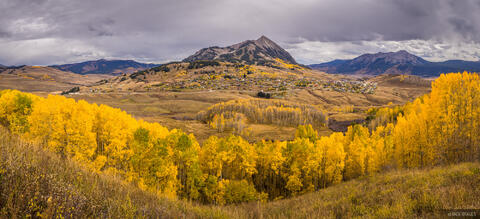 Mt Crested Butte Autumn Panorama