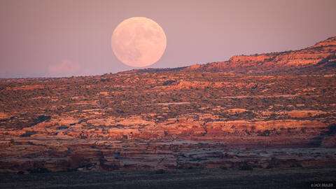 Moonrise Over Sandstone