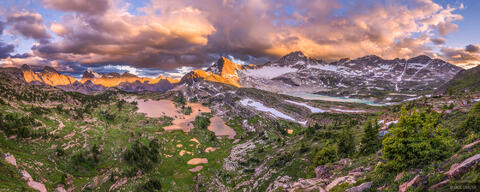 Height of the Rockies Sunset Panorama