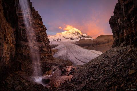 Robson Waterfall Sunrise