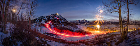 New Years Eve over Crested Butte