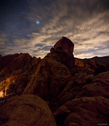 Nighttime over Valley of Fire