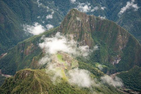 Above Macchu Picchu