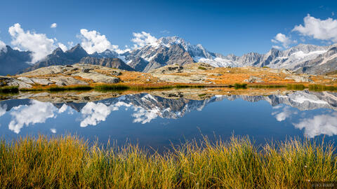 Monte Disgrazia Autumn Reflection