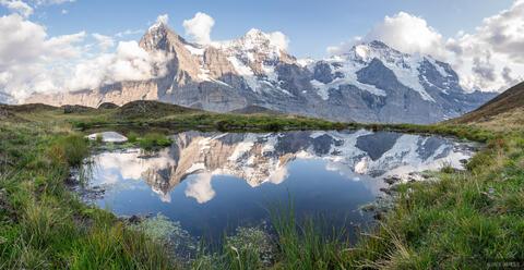 Eiger, Mönch, and Jungfrau Reflection