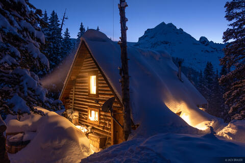 Mount Hayden Backcountry Lodge Dusk