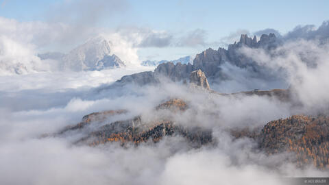 Cinque Torri in the Clouds