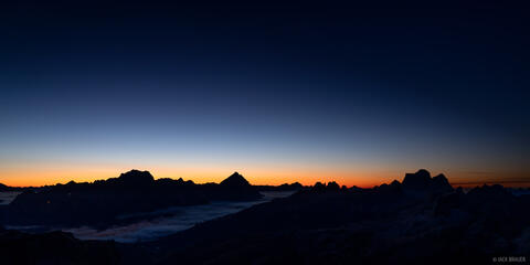 Dawn over the Dolomites