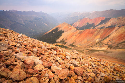 Hazy Red Mountains