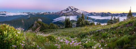 Glacier Peak Sunset Panorama