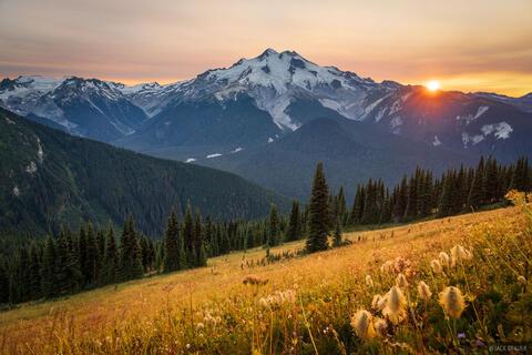 Glacier Peak Smoky Sunset