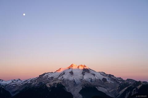 Glacier Peak Sunrise Moon