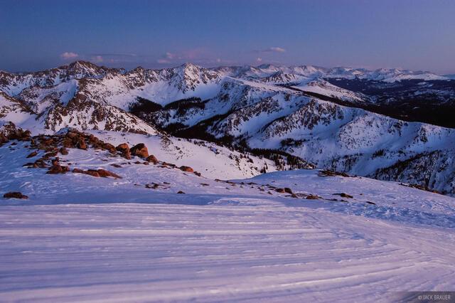 Gore Range, twilight, Vail, Colorado, Eagles Nest Wilderness