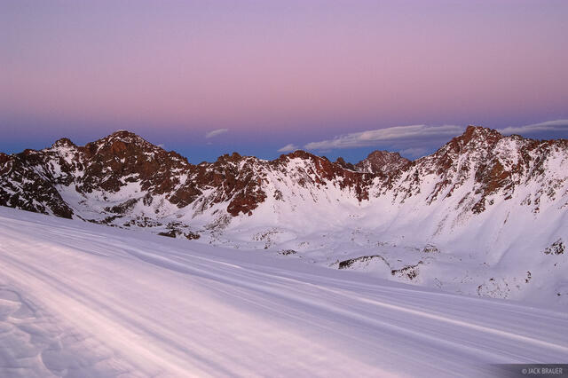 Valhalla, Snow Peak, dusk, Gore Range, Colorado, Eagles Nest Wilderness
