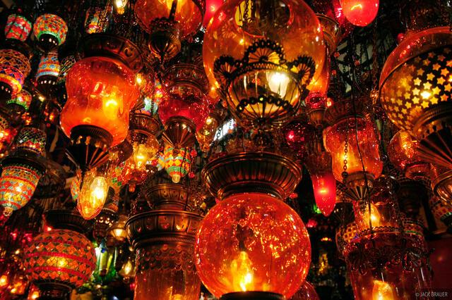 lamps, Grand Bazaar, Istanbul, Turkey