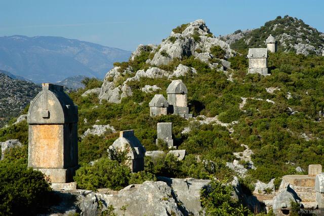 Lycian, sarcophagi, Simena, Turkey