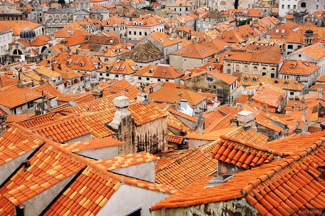 Dubrovnik, walled city, rooftops, Croatia