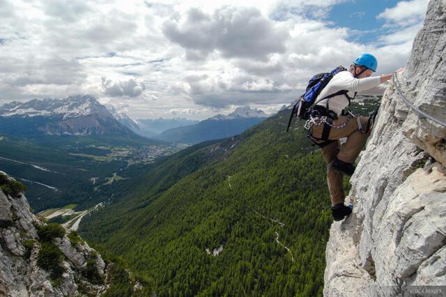 climbing, Col Rosa, via ferrata, Dolomites, Italy, Alps