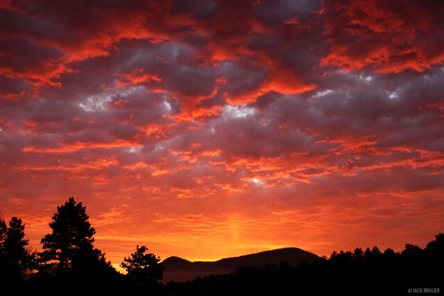 Evergreen, sunrise, Colorado