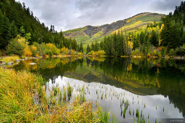 Lizard Lake, reflection, Crystal, Colorado