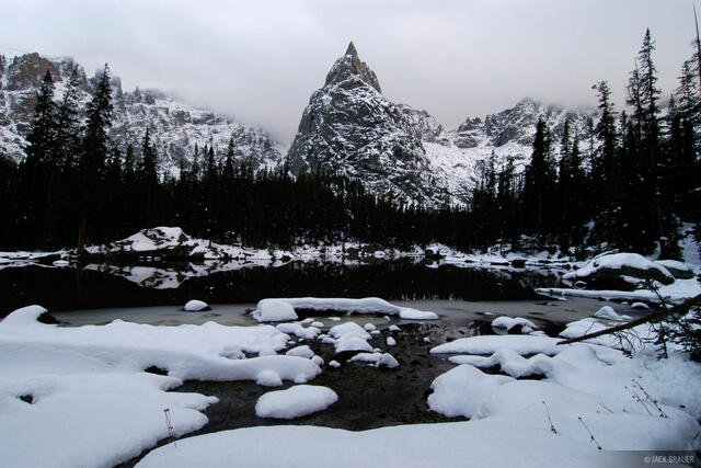 Lone Eagle Peak, Indian Peaks, Colorado, winter, lone eagle