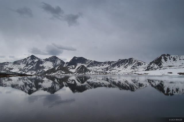 Three Apostles, reflection, Collegiate Peaks Wilderness, Sawatch Range, Colorado