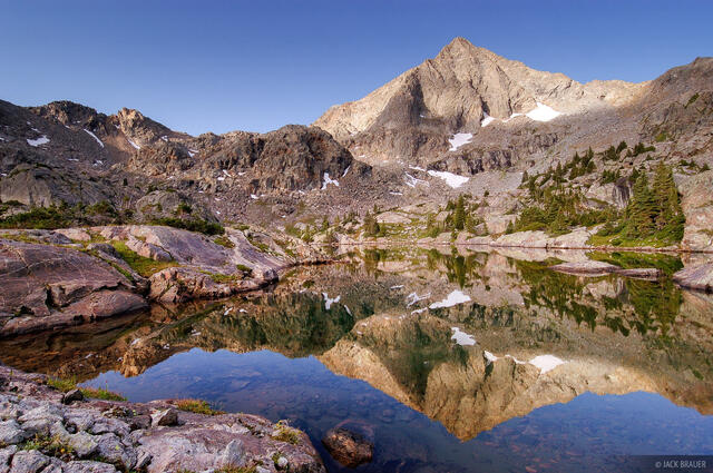Gold Dust Peak, reflection, Holy Cross Wilderness, Colorado