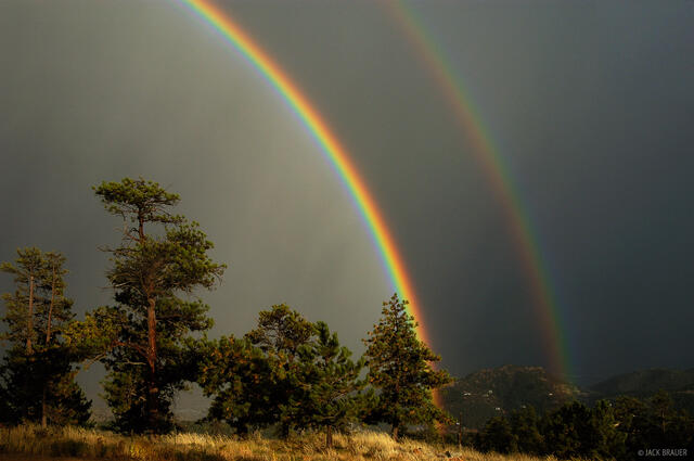Boulder, double rainbow, Colorado