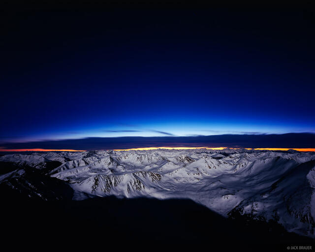 Mt. Elbert, Colorado, summit, moonlight