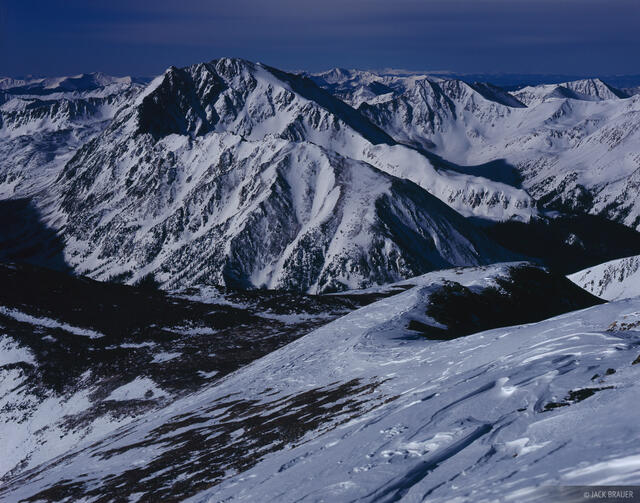 La Plata Peak, moonlight, fourteener, Sawatch Range, Colorado, Collegiate Peaks Wilderness