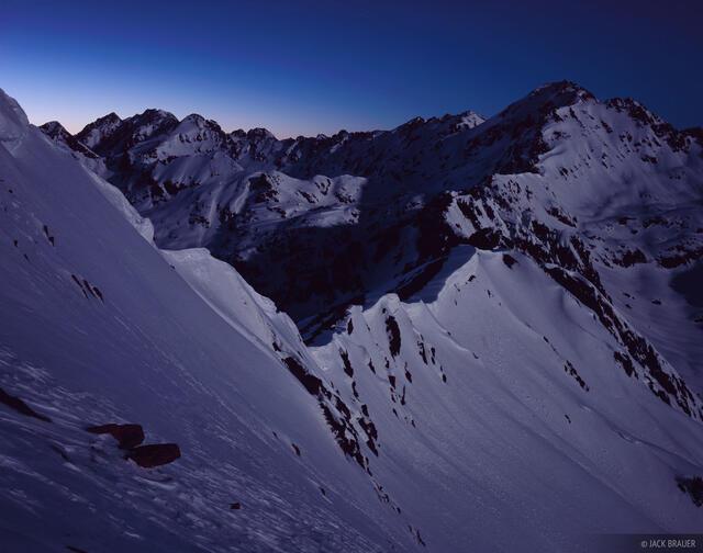 Outpost Peak, moonlight, Gore Range, Colorado, Eagles Nest Wilderness
