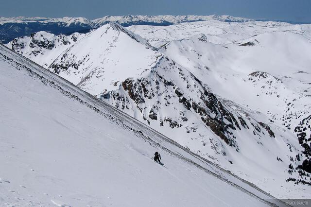 snowboarding, Torreys Northwest Couloir Descent, Colorado